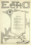 Taylor University Echo: April 25, 1922 by Taylor University