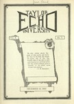 Taylor University Echo: December 12, 1922
