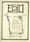 Taylor University Echo: December 26, 1922