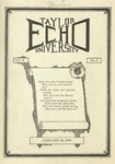 Taylor University Echo: January 30, 1923