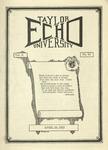 Taylor University Echo: April 24, 1923