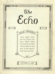 The Echo: October 31, 1923 by Taylor University