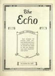 The Echo: November 28, 1923 by Taylor University