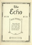 The Echo: February 20, 1924 by Taylor University