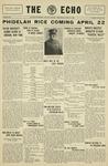 The Echo: April 16, 1930