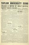 Taylor University Echo: November 3, 1933