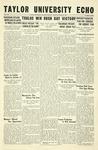Taylor University Echo: October, 20, 1933 by Taylor University