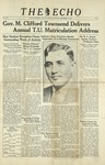 The Echo: September 18, 1937 by Taylor University