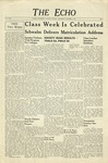 The Echo: October 8, 1941 by Taylor University