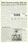 The Echo: September 16, 1960 by Taylor University