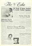 The Echo: April 5, 1968 by Taylor University