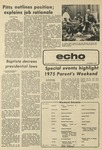 The Echo: October 3, 1976 by Taylor University