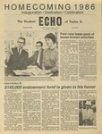 The Echo: October 24, 1986 by Taylor University