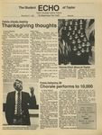 The Echo: November 21, 1986 by Taylor University
