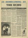 The Echo: October 16, 1987 by Taylor University