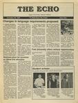 The Echo: November 20, 1987 by Taylor University