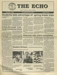 The Echo: March 25, 1988 by Taylor University