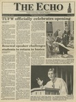 The Echo: September 18, 1992 by Taylor University