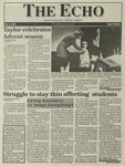 The Echo: December 3, 1993 by Taylor University