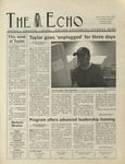 The Echo: November 1, 2002 by Taylor University