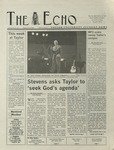 The Echo: November 8, 2002 by Taylor University