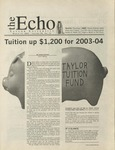 The Echo: March 14, 2003 by Taylor University