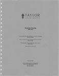 Taylor University Graduate Catalog 2009-10 by Taylor University