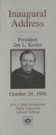 ART - Inaugural Address of President Jay L. Kesler