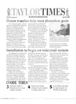 Taylor Times: April 28, 2000