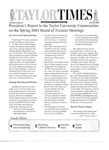 Taylor Times: May 20, 2003 by Taylor University