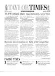 Taylor Times: November 22, 2000