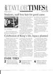 Taylor Times: December 8, 2000