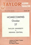 Taylor Alumni Magazine (September 1956) by Taylor University