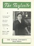 """Taylor University Alumni Bulletin """"The Taylorite"""" (March 1949) by Taylor University"""