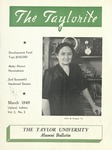 "Taylor University Alumni Bulletin ""The Taylorite"" (March 1949)"