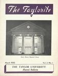 """Taylor University Alumni Bulletin """"The Taylorite"""" (March 1950) by Taylor University"""
