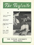 "Taylor University Alumni Bulletin ""The Taylorite"" (June 1950)"