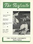 "Taylor University Alumni Bulletin ""The Taylorite"" (June 1950) by Taylor University"