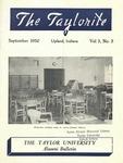 """Taylor University Alumni Bulletin """"The Taylorite"""" (September 1950) by Taylor University"""