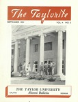 "Taylor University Alumni Bulletin ""The Taylorite"" (September 1951)"