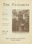 "Taylor University Alumni Bulletin ""The Taylorite"" (March 1948)"
