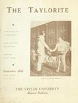 "Taylor University Alumni Bulletin ""The Taylorite"" (September 1948)"