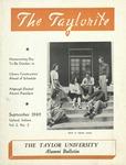 """Taylor University Alumni Bulletin """"The Taylorite"""" (September 1949) by Taylor University"""