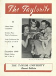 "Taylor University Alumni Bulletin ""The Taylorite"" (December 1949)"