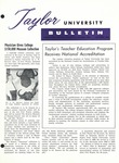 Taylor University Bulletin (October 1962) by Taylor University