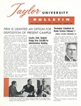 Taylor University Bulletin (January 1962) by Taylor University