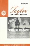 Taylor University Bulletin (March 1960)