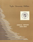 Taylor University Bulletin Annual Report 1959-1960 (October 1960)