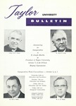 Taylor University Bulletin (September 1960) by Taylor University