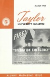 Taylor University Bulletin (March 1960) by Taylor University